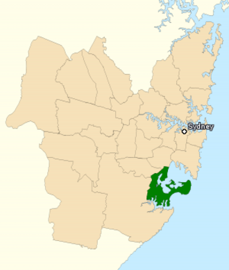 Division of Cook - Division of Cook in New South Wales, as of the 2016 federal election.