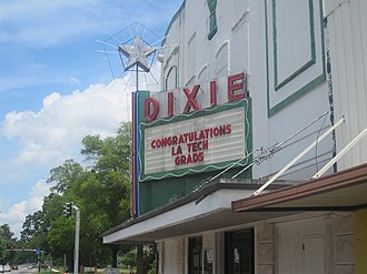 Ruston, Louisiana - Dixie Theater in downtown Ruston