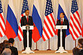 Dmitry Medvedev with Barack Obama 6 July 2009-7.jpg