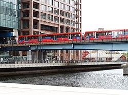 Docklands Light Railway 115, 125 Heron Quays 2011 (5872690358).jpg