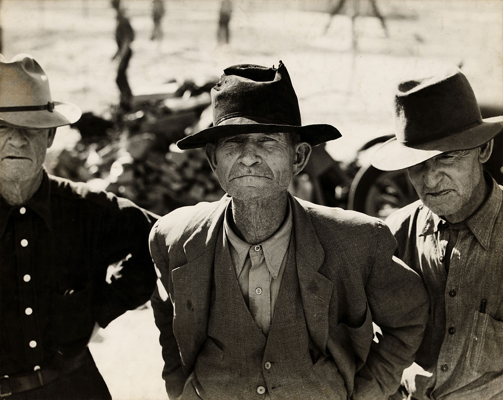Dorothea Lange, Ex-tenant farmer on relief grant in the Imperial Valley, California, 1937