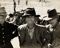 Dorothea Lange, Ex-tenant farmer on relief grant in the Imperial Valley, California, 1937.jpg