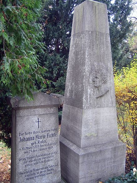 Tombs of Johann Gottlieb Fichte and his wife Johanna Marie, Dorotheenstaedtischer Friedhof (cemetery), Berlin Dorotheenst Friedhof Fichte.jpg