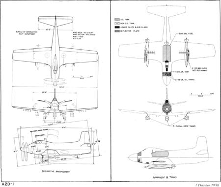 Douglas A2D Standard Aircraft Characteristics
