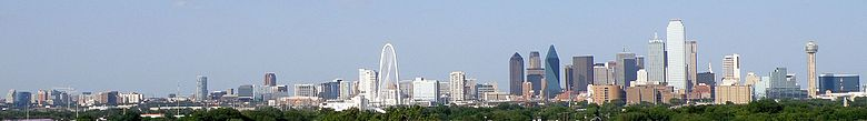 Panorama sur Dallas.