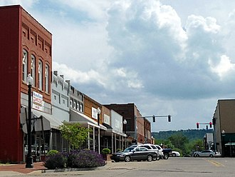 Paris, Arkansas - Image: Downtown Paris, AR 001