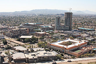 Tempe Butte - Looking down on downtown Tempe from the butte.
