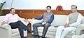 Dr. Jitendra Singh, Kiren Rijiju and Jayant Sinha during a review meeting on developmental projects in Arunachal Pradesh.jpg