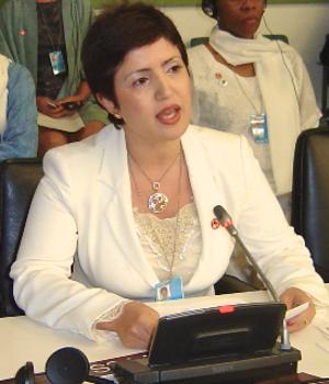 Widad Akrawi - Widad Akreyi addressing the UN, 2010