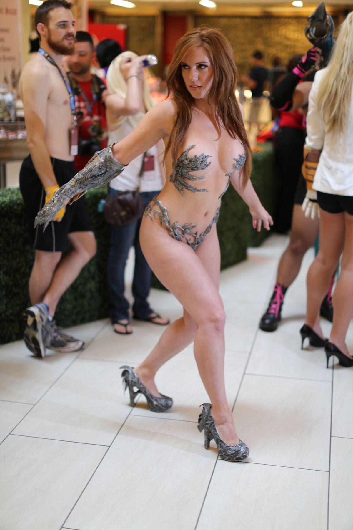 naked girls in costume
