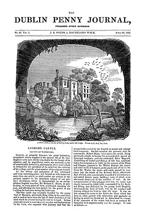 Dublin Penny Journal - Front page of issue of 20 April 1833