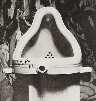 Postmodern art - Marcel Duchamp, Fountain, 1917. Photograph by Alfred Stieglitz