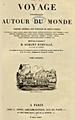Dumont d'Urville - Voyage pittoresque autour du monde, titre Tome premier, 1834.png