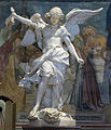 Duomo di orvieto, cappella del corporale 03 agostino cornacchini, arcangelo michele (1729).JPG