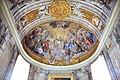 Duomo di viterbo, interno, coro dei canonici, con affreschi di giuseppe passeri, 1683, 03.jpg
