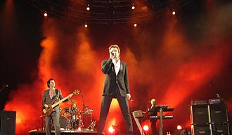 Grammy Award for Best Music Film - Members of the English new wave group Duran Duran, among recipients of the 1984 accolade for Duran Duran, performing in 2005.