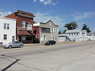 Durant, Iowa - Buildings on the north side of Fifth Street