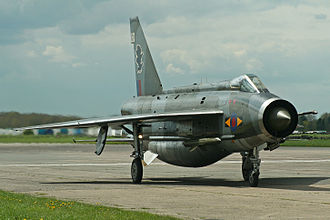 English Electric Lightning - Lightning F.6 XS904 after a high-speed taxi run at 2012 Cold War Jets Day, Bruntingthorpe