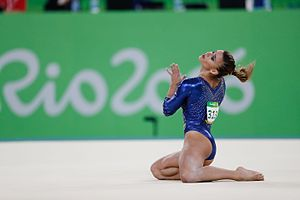 Floor (gymnastics) - Jade Barbosa performing on floor at the 2016 Summer Olympics