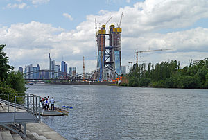 Ostend (Frankfurt am Main) - Construction work on the new Seat of the European Central Bank (2012)