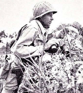 The last picture of US Army Brig. Gen. Claudius Miller Easley, taken on June 19, 1945. He was later killed by Japanese machine gun fire. EasleysLastpicture.jpg