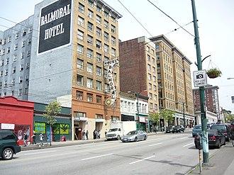 Hastings Street (Vancouver) - Image: East Hastings Street Vancouver