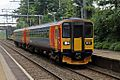 East Midlands Trains Class 153, 153385, Alsager railway station (geograph 4524984).jpg