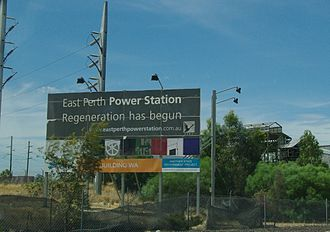 East Perth Power Station - Sign when the plans for rebuilding as a museum where still current