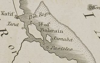 Qatar - A map of East Arabia in 1794.