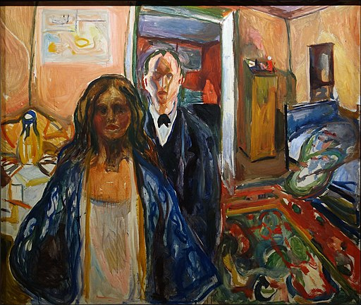 Edvard Munch The Artist And His Model 1919-1921