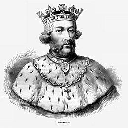 Ritratto di Edoardo II d'Inghilterra della Cassell's History of England, pubblicata circa nel 1902