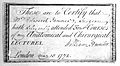 Edward Jenner, certificate of attendance at Wellcome L0020696.jpg