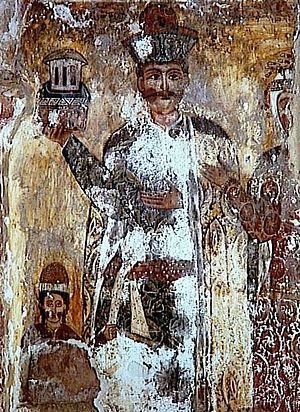 Levan I Dadiani - Levan I Dadiani in a fresco in the Tsalenjikha Cathedral.