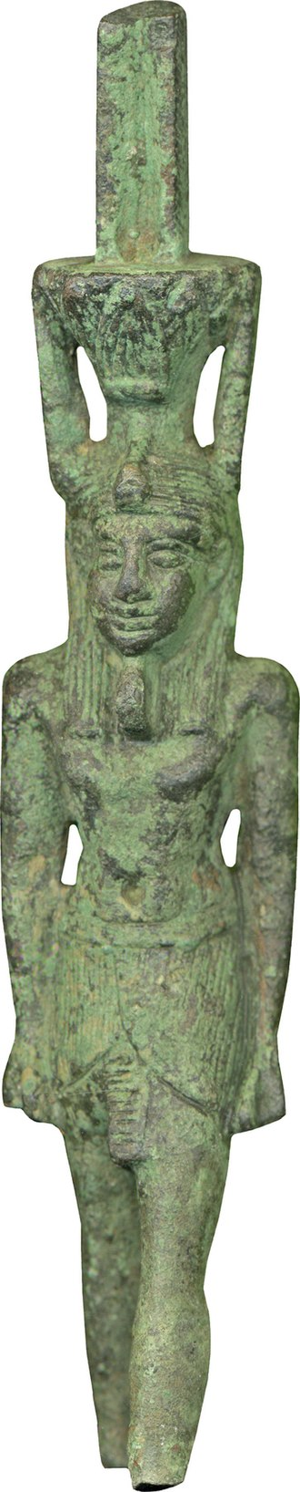Memphis, Egypt - This ritualistic object depicts the god Nefertem, who was mainly worshipped in Memphis. The Walters Art Museum.