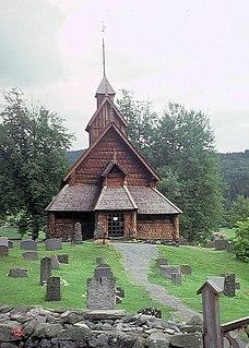Eidsborg Stave Church church building in Tokke, Eastern Norway