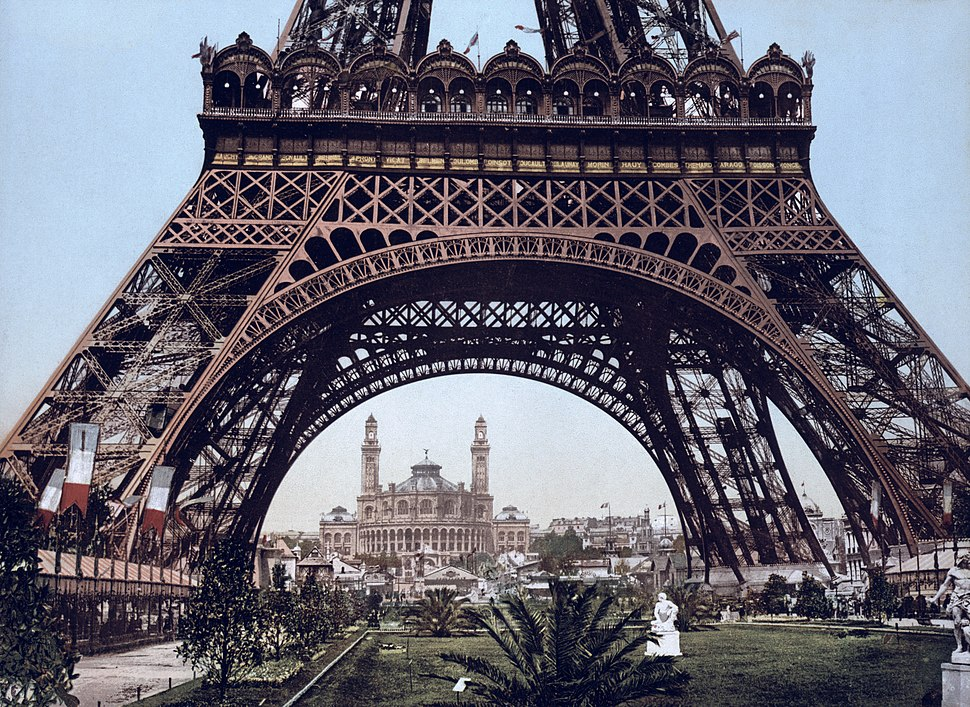 Eiffel Tower and the Trocadero, Exposition Universal, 1900, Paris, France