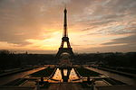 Eiffel tower at dawn horizontal.jpg