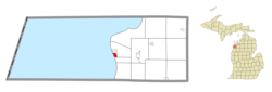 Location within Benzie County
