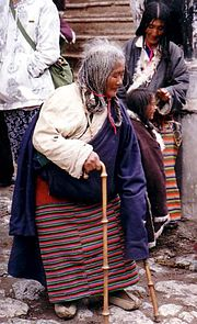 Elderly Pilgrim, Tsurphu 1993