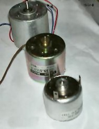 Brushed DC electric motor - Electric motors of various sizes