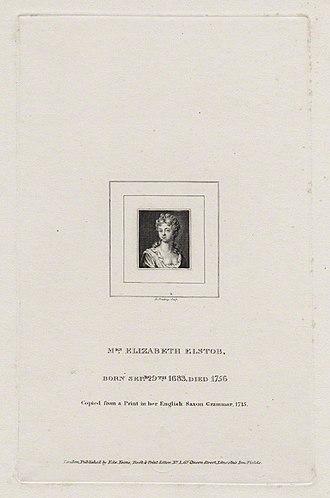 Elizabeth Elstob - Elizabeth Elstob by Burnet Reading (by 1838)