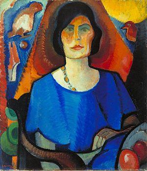 Else Berg - Self-portrait (1917)