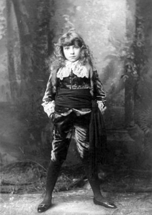 Little Lord Fauntleroy - Elsie Leslie in the Broadway production of Little Lord Fauntleroy (1888)