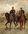 Emil Hünten - Kaiser Wilhelm I und Kronprinz Friedrich zu Pferde.jpg