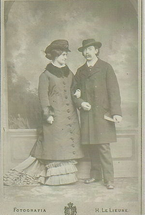 Emma Adler - Emma and Victor Adler (1878)