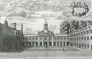 Emmanuel College, Cambridge - View of Emmanuel College Chapel, 1690