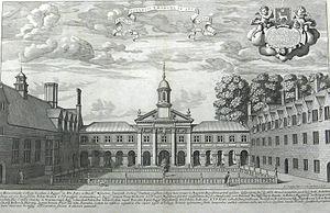 Emmanuel College, Cambridge - View of Emmanuel College Chapel, 1690