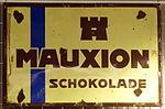 Enamel advertising sign, Mauxion schokolade.JPG