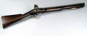 Blunderbuss - An English flintlock blunderbuss.