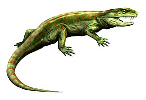 Eothyrididae - life restoration of Eothyris parkeyi, body shape is conjectural since only the skull is known